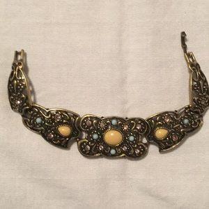 🌹So Outrageous Looking Vintage Stone Bracelet 🌹